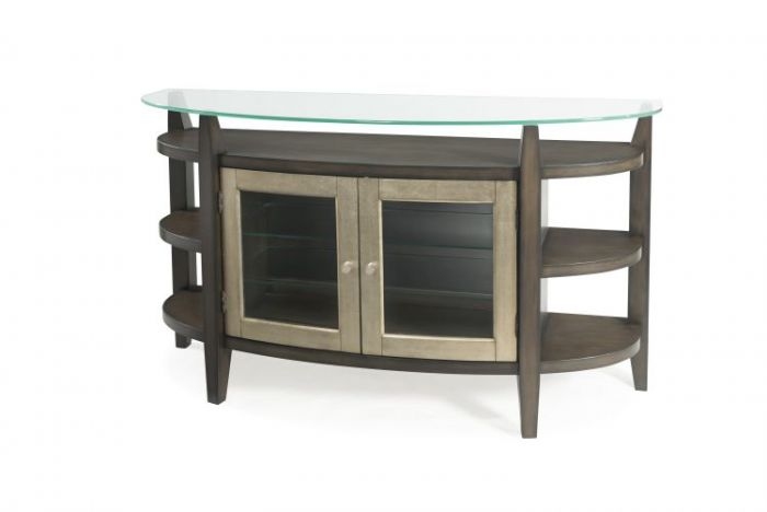 Elston Server in Taupe & Champaign Leaf
