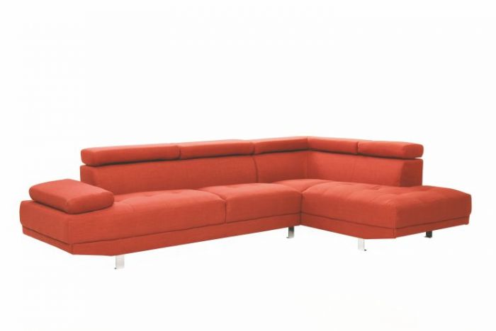 Milan Sectional in Orange