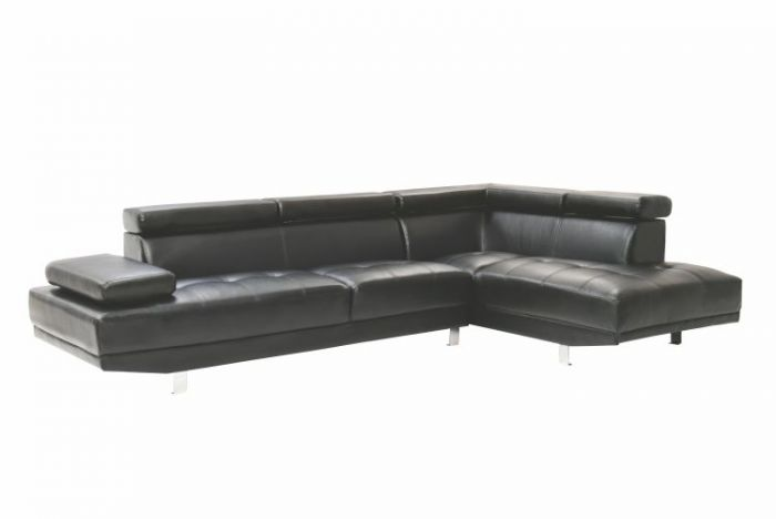 Milan Sectional in Black