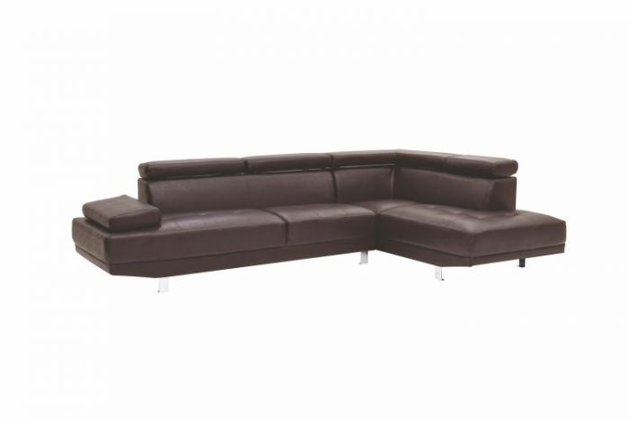 Milan Sectional in PUBrown