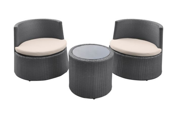 Kailani Outdoor Wicker Patio Set (Table with 2 chairs)