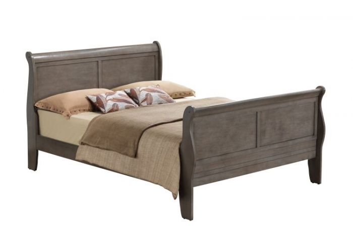 Bob's Queen Bed in Grey