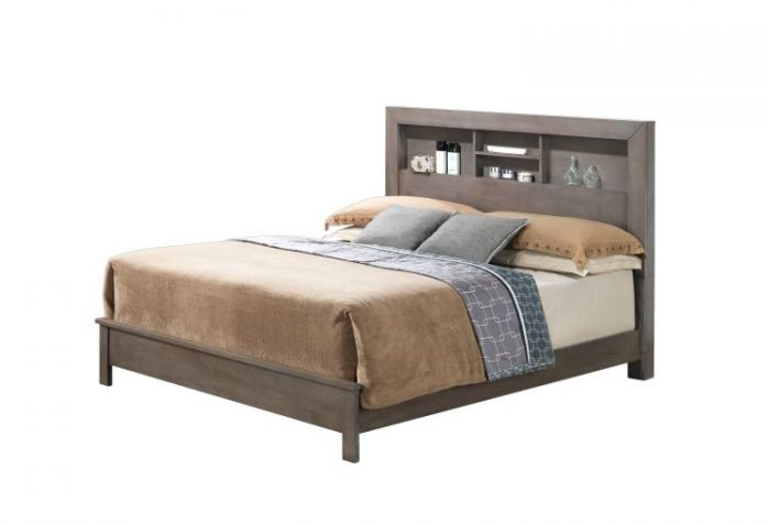 Bob's King Bed in Gray