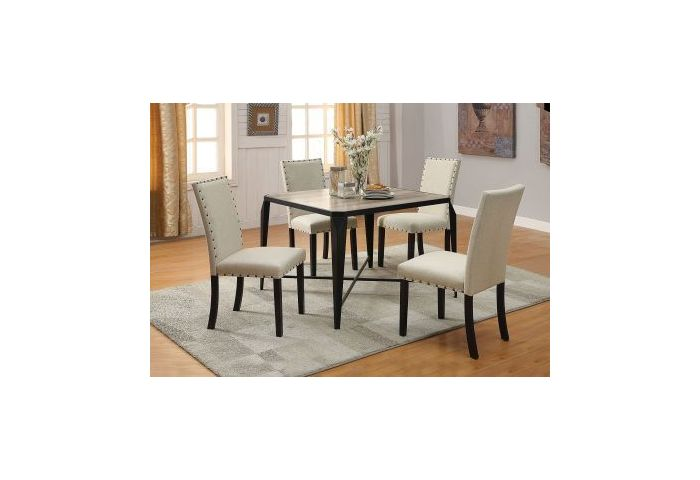 Oldlake 5 Piece Dining Set in Antique Black