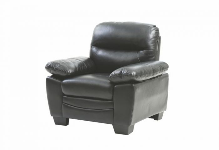 Ashley Chair in Black Faux Leather