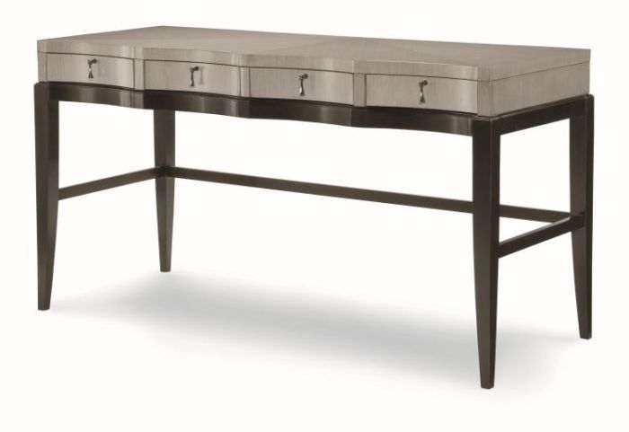 Symphony Writing Desk In Platinum & Black Tie