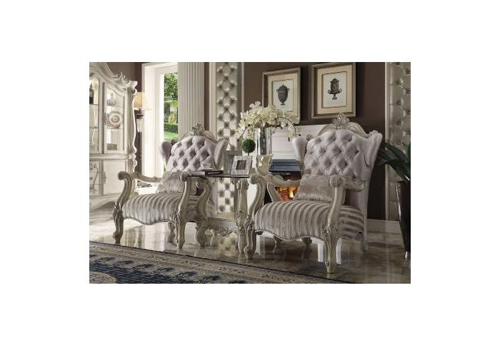 Versailles Chair with 1 Pillow in Ivory & Bone White