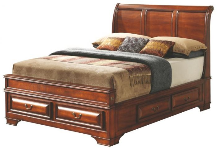 Queen Storage bed in Cherry