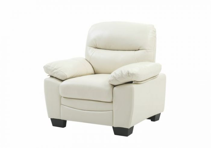 Ashley Chair in Pearl Faux Leather