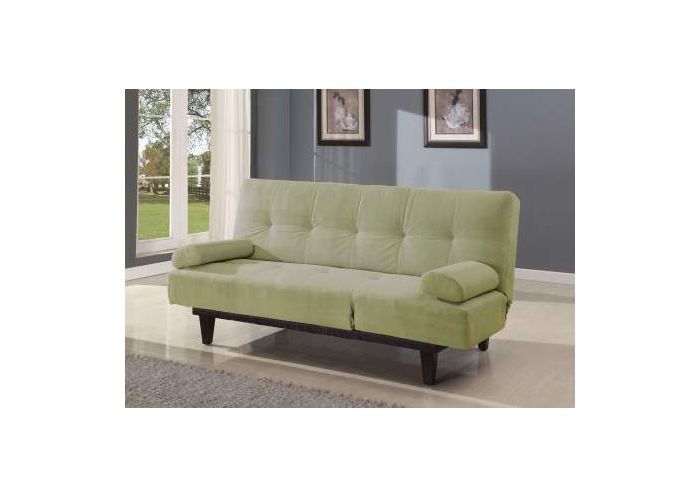 Cybil Adjustable Sofa with 2 Pillows in Apple Green Mfb