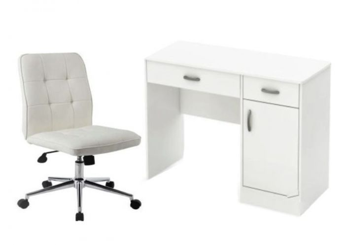 2 Piece Home Office set in White