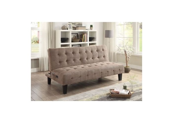 Taupe Sofa Bed With Power Outlet And USB