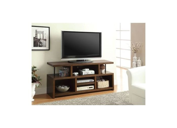 Brown Media TV Console with Open Storage