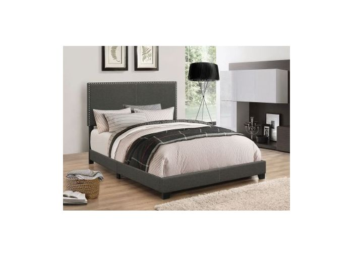 Boyd Upholstered King Bed in Charcoal