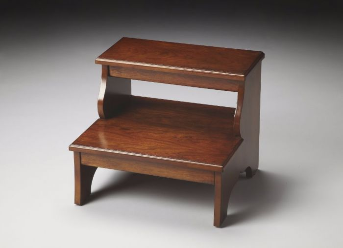 Melrose Chestnut Burl Step Stool