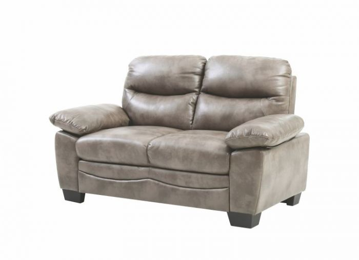 Progressive Loveseat in Gray Faux Leather