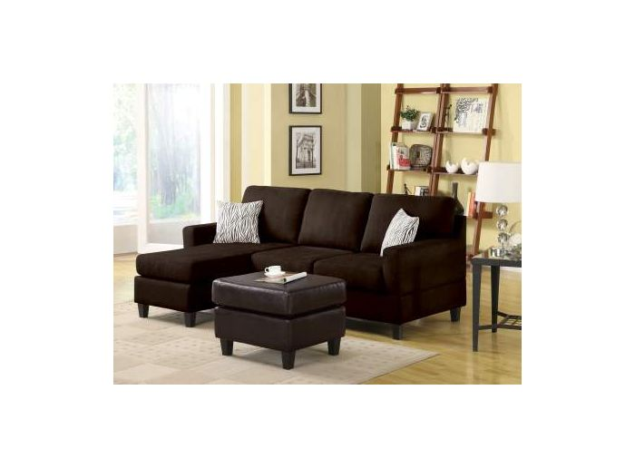 Admirable Vogue Sectional Sofa Reversible Chaise In Chocolate Mfb Bralicious Painted Fabric Chair Ideas Braliciousco