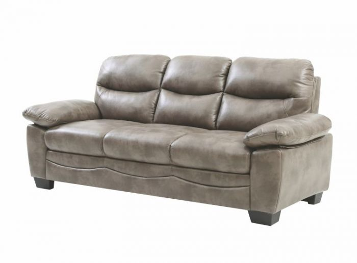 Ashley Sofa in Gray Faux Leather