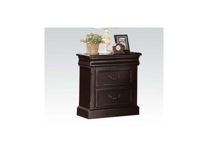 Roman Empire II Nightstand, Dark Cherry Finish