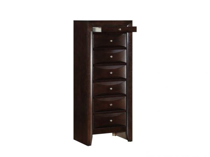 7 Drawer Lingerie Chest in Cappuccino