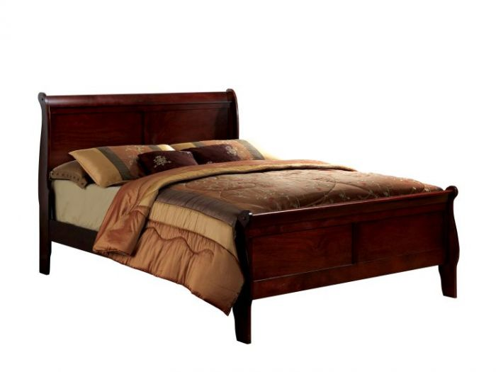 Corella Cal. King Sleigh Bed in Cherry