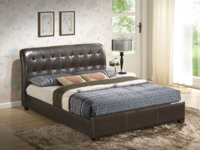Bob's King Bed in Brown