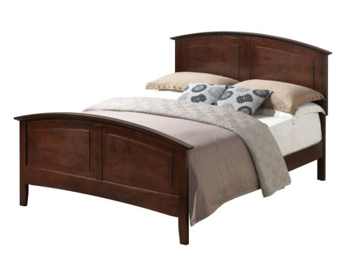 Queen Size Panel Bed 2 Boxes in Queen Cappuccino