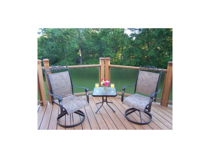 Cascade 3 Piece Swivel Chat Set with Two Rockers