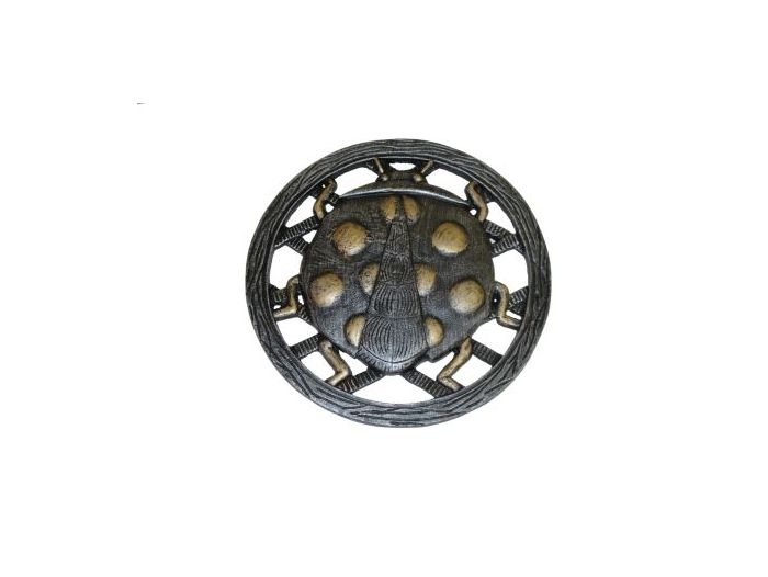 Cast Aluminum Stepping Stone Lady Bug - Set of 6