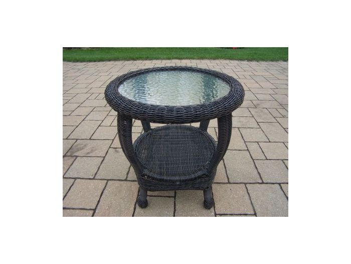22-inch Resin Wicker End Table