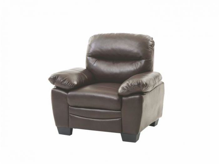 Ashley Chair in Dark Brown Faux Leather