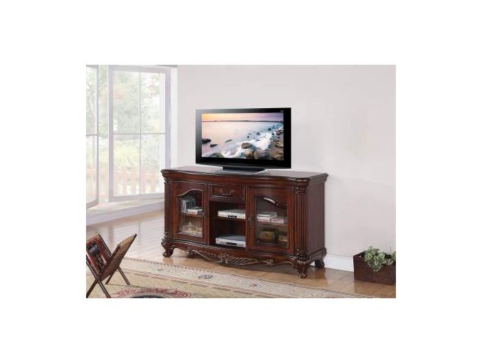 Remington TV Stand in Brown Cherry