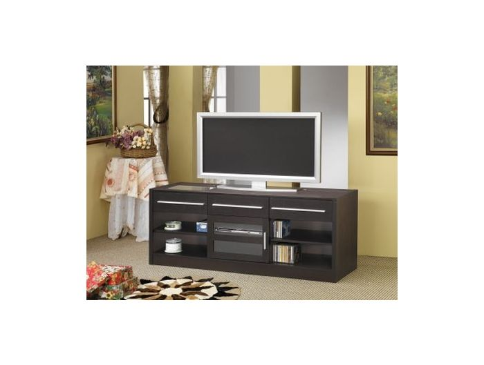 Cappuccino TV Console with CONNECT-IT Power
