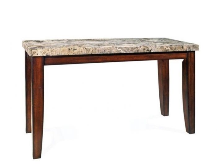 Montibello Marble Top Table in Cherry Finish (Table Only)