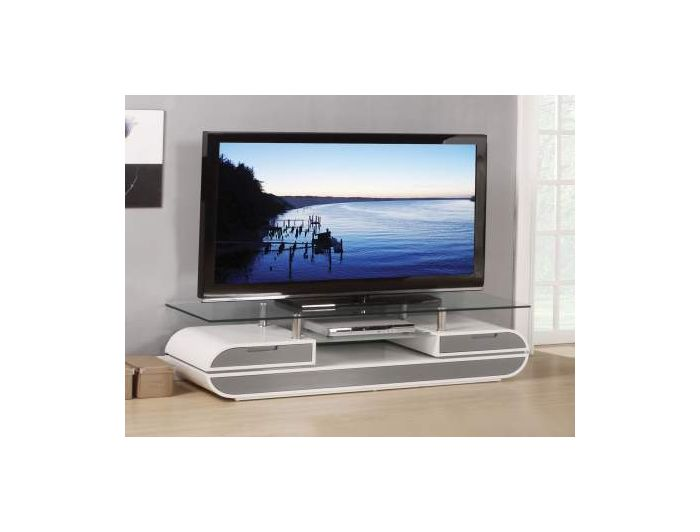 Lainey TV Stand in White & Gray