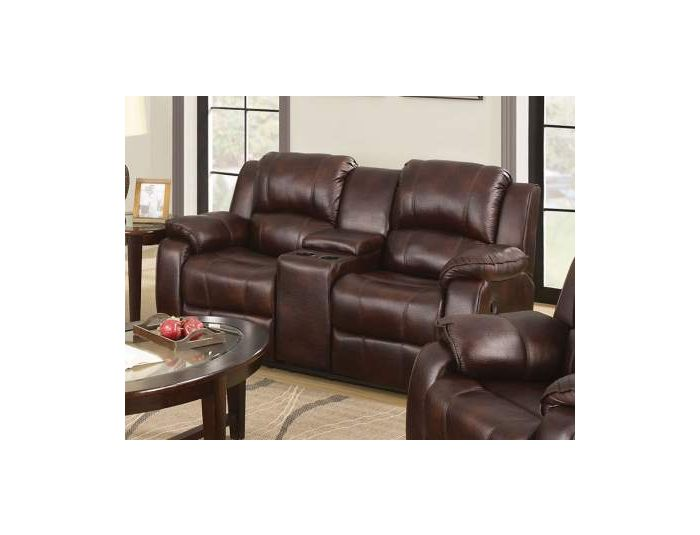Zanthe Loveseat with Console (Motion) in Brown P-Mfb
