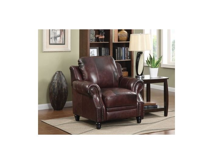 Princeton Leather Recliner in Brown