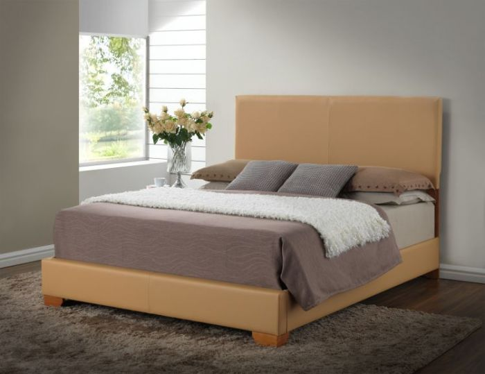 Bob's King Bed in Tan