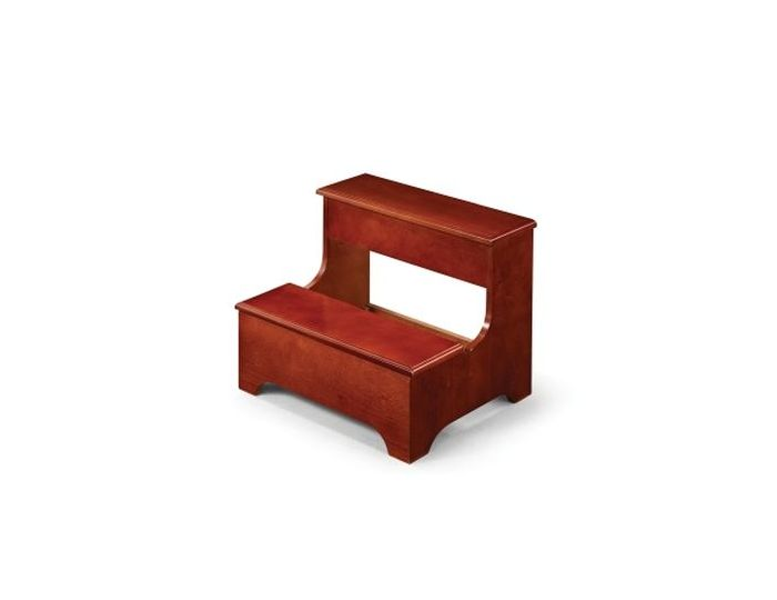 Traditional Step Stool with Storage in Cherry