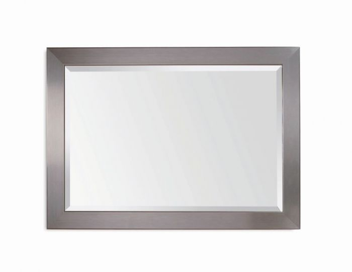 Stainless Wall Mirror  in Brushed Chrome