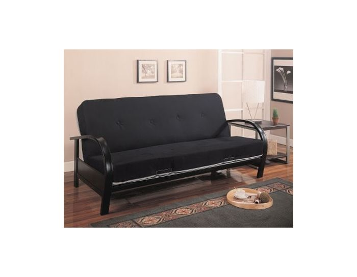 Black Contemporary Futon Frame