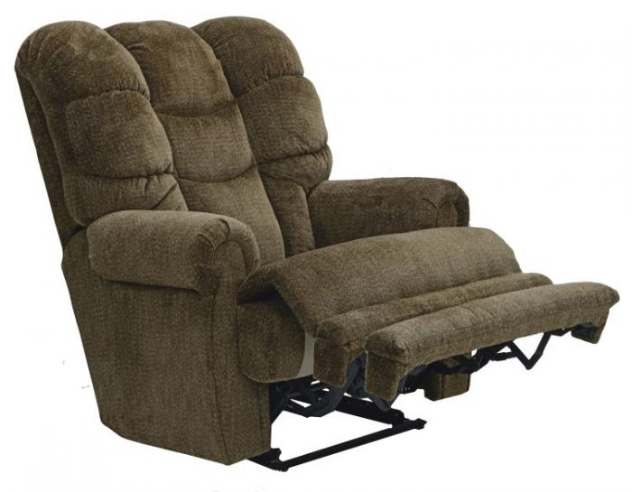 Malone Lay Flat Recliner with Extended Ottoman in Basil