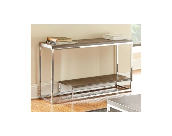 Lucia Sofa Table in Gray and Brown