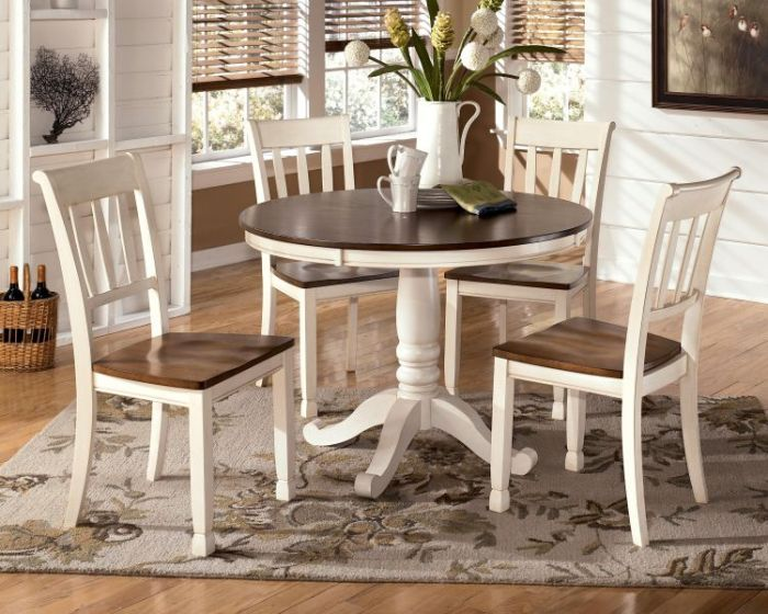 Whitesburg 5 Piece Dining Room Set in Cottage White