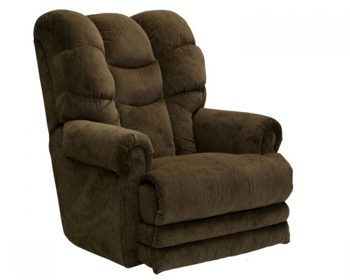 Power Lay Flat Recliner with Extended Ottoman in Basil