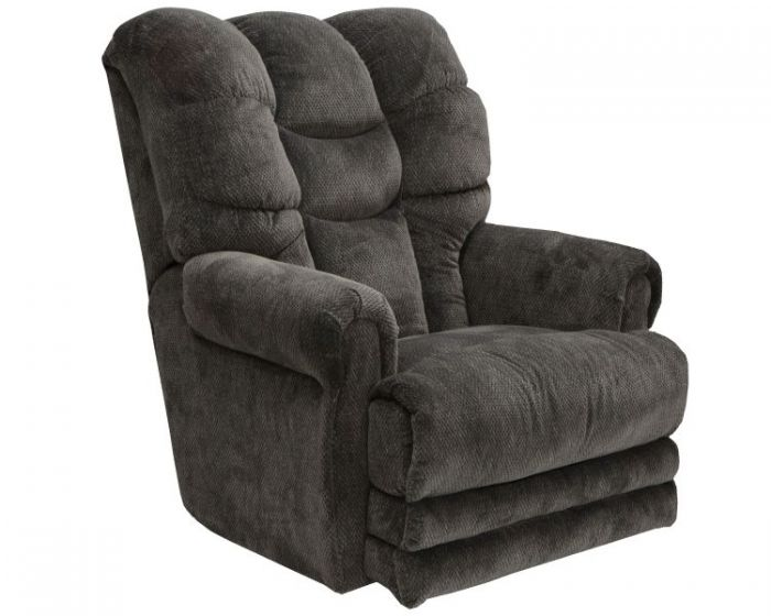 Malone Lay Flat Recliner with Extended Ottoman in Slate