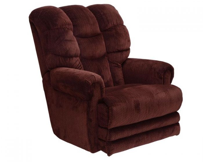 Malone Lay Flat Recliner with Extended Ottoman in Vino