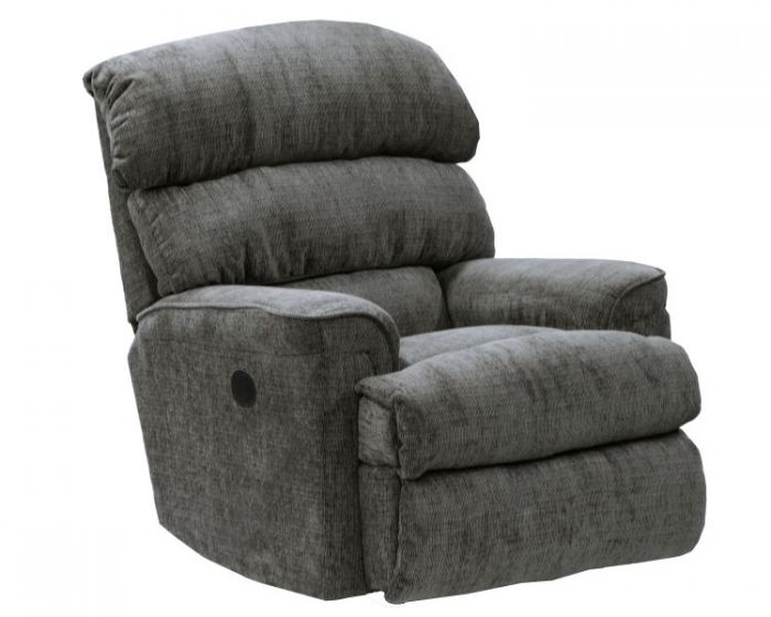 Pearson Chaise Rocker Recliner in Charcoal