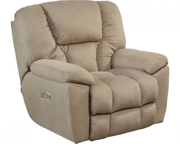 Owens Power Headrest Power Lay Flat Recliner in Doe