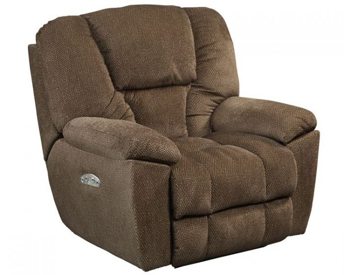 Owens Power Headrest Power Lay Flat Recliner in Hickory